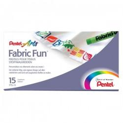Pastelli per tessuti Pentel - assortiti (conf.15)