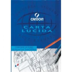 Blocco disegno carta lucida Canson - 23x33 - 80/85 g/mq - 10
