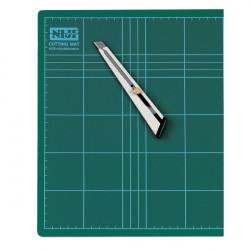 Piano da taglio Niji - 45x30x0,3 cm - verde - doppio spessore