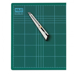 Piano da taglio Niji - 90x60x0,3 cm - verde - doppio spessore