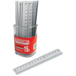 Barattolo righelli in alluminio Arda - 15 cm (conf.15)
