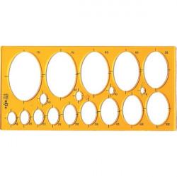 Maschera per ellissi Arda - 31,6x15 cm - 8/75 mm