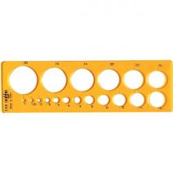 Maschera per cerchi piccoli Arda - 19,3x5,8 cm - 1/30 mm