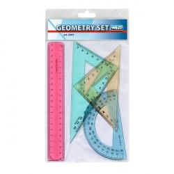 Geometry set Niji - in plastica - trasparente colorato assortito