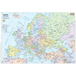 Carte scolastiche da banco Belletti - Europa - 42x29,7 cm (conf.20)
