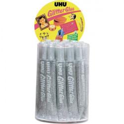 Glitter Glue UHU - Original - argento - 20 ml
