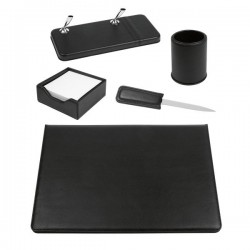 Set scrivania in similpelle Niji - 50x35 cm - nero