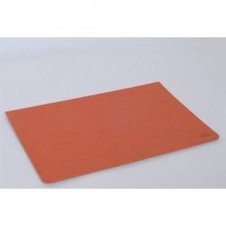 Sottomano in pelle ecologica Orna - 49,5x34 cm - arancione