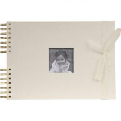 Album fotografici Exacompta - tessuto - avorio - 100 foto - 50 - 32x22 cm