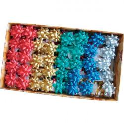 Stelle adesive per pacchi regalo Brizzolari - liscio - tinta unita - 35 mm (conf.100)