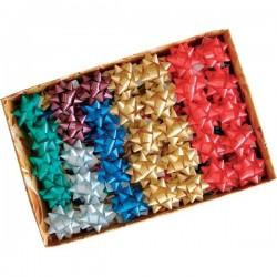 Stelle adesive per pacchi regalo Brizzolari - Nastro liscio - tinta unita - 65 mm (conf.100)