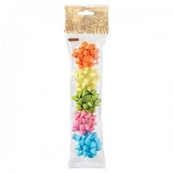 Stelle adesive per pacchi regalo Brizzolari - liscio in blister -tinta unita- 50mm (conf.5)