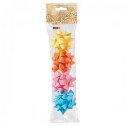Stelle adesive per pacchi regalo Brizzolari - liscio in blister -tinta unita- 65mm (conf.4)