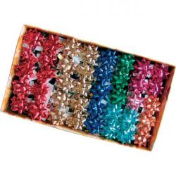 Stelle adesive per pacchi regalo Brizzolari - tinta unita metallizzata - 35 mm (conf.100)