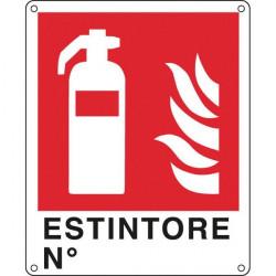 Cartelli segnaletici divieto - Antincendio - estintore n° - 250x310 mm
