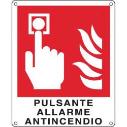 Cartelli segnaletici divieto - pulsante allarme antincendio - 250x310 mm