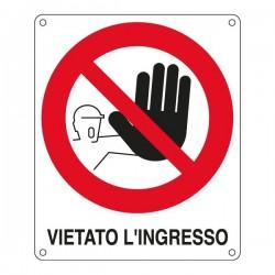Cartelli segnaletici divieto - vietato l'ingresso - 270x330 mm