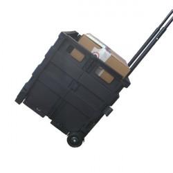 Cassetta pieghevole portatile Viso - nero