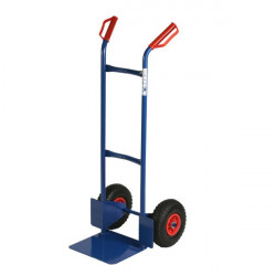 Carrello portacasse con ruote pneumatiche RelX - blu - 117x49x51 cm - 180 kg