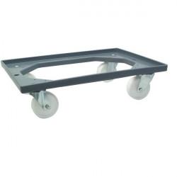 Piattaforma con ruote per contenitore per magazzino Viso - 62x42x17 cm - 250 kg