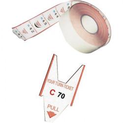 Rotoli tagliandi - Rosso per EliminaCode Printex Tr/roll/rss (conf.5)