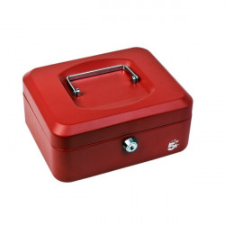 Cassetta portavalori 5 Star - 16x20x9 cm - rosso