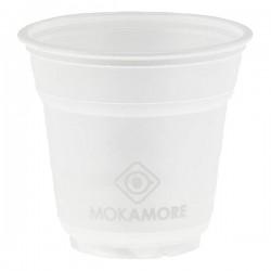 Bicchierini per caffè trasparenti personalizzati Mokamore conf.50)