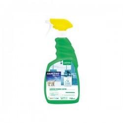 Detergente ecologico per vetri specchi e superfici Sanitec - 750 ml (conf.6)