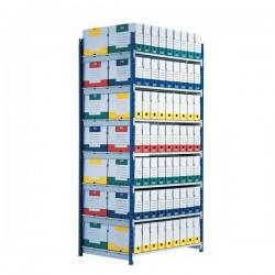 Scaffalatura ad incastro RANG'ECO Paperflow - Scaffale H200 x L100 x P70 - 5