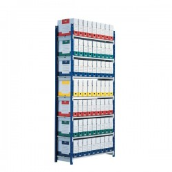 Scaffalatura ad incastro RANG'ECO Paperflow - Scaffale H200 x L125 x P35 - 5