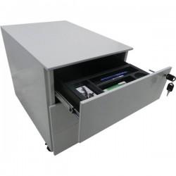 Cassettiere in metallo su ruote Tecnical 2 - 2 (1 class.) - bianco - 41x58x55,3(h) cm