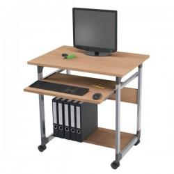 Carrello portacomputer Durable - argento metallizzato/faggio - 75x53,4x77 cm - 3