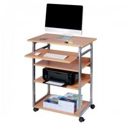 Carrello portacomputer Durable - argento metallizzato/faggio - 75x53,4x95-115 cm - 5