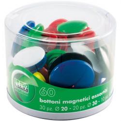 Bottoni magnetici Lebez - assortiti - assortiti (conf.60)