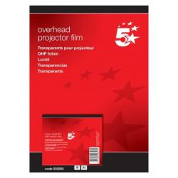 Lucidi 5 Star - Per stampanti inkjet - banda removibile lato corto (conf.50)