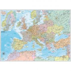 Carta geografica murale Belletti - Europa - 99x132 cm - aste in legno