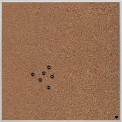 Lavagna-pannello quadrata Bi-Office - 45x45 cm - sughero - non magnetica