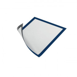 Cornice magnetica Durable - A4 - 25x0,45x32,5 cm - porta avvisi - blu (conf.5)