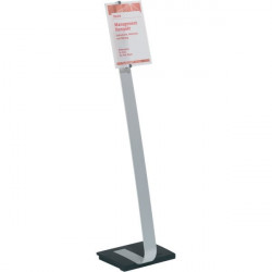 Espositore da pavimento Crystal Sign Stand Durable - A4 - 109 cm