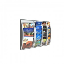Modulo a 4 tasche f.to A4 per Espositori da muro Quick Fit System Paperflow - 40,9x9,5x65 cm