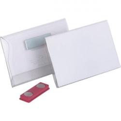 Portabadge con magnete Durable - 5,4x9 cm (conf.25)