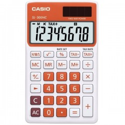 Calcolatrice Tascabile Sl-300Nc Casio - Arancio - Sl-300Nc-Rg