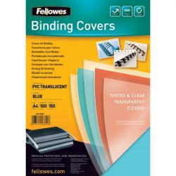 Copertine in PVC per rilegatura Fellowes - A4 - 180 my - blu (conf.100)