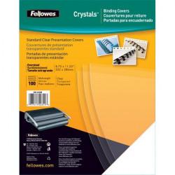 Copertine in PVC per rilegatura Fellowes - A4 - 250 my - trasparente (conf.100)