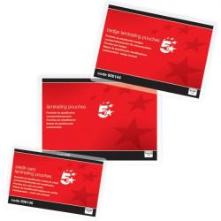 Pouches per plastificatrici 5 Star - 125 micron per lato - 54x86 mm (conf.100)