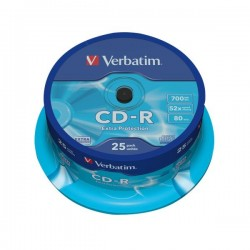 CD Verbatim - CD-R - 700 Mb - 52x - Extra Protection - Spindle (conf.25)