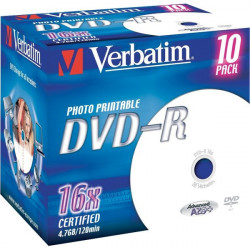 DVD Verbatim - DVD-R - 4,7 Gb - 16x - Printable - Jewel case