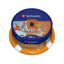 DVD Verbatim - DVD-R - 4,7 Gb - 16x - Printable - Spindle (conf.25)