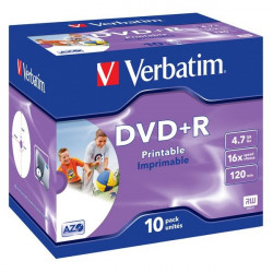 DVD Verbatim - DVD+R - 4,7 Gb - 16x - Printable - Jewel case