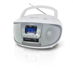 Radio-Lettore Cd-Mp3 Boombox Irradio - Bianco/Silver